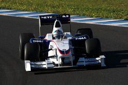 Nick Heidfeld, BMW Sauber F1 Team, voiture interim 2009
