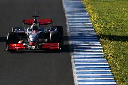 Pedro de la Rosa, pilote d'essai, McLaren Mercedes, aileron avant interim 2009