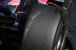 Des pneus Rear Bridgestone sur une Scuderia Toro Rosso