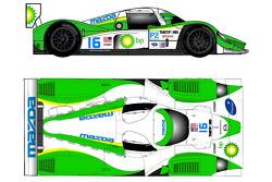 Remise de la coupe de la 2009 Dyson Racing Lola Mazda LMP2