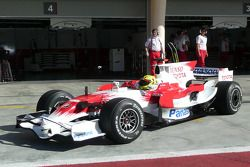 Toyota Young Drivers Programme member Henki Waldschmidt tests a TF108 for the first time