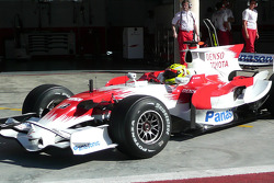 Toyota Young pilotu s Programme member Henki Waldschmidt test TF108 for first time