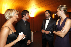 FIA World Rally champion Sébastien Loeb with is wife, FIA World Touring Car champion Yvan Muller with his wife