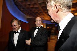 Former WRC champion Carlos Sainz, His Serene Highness Prince Albert of Monaco and FIA President Max