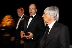 Automobile Club of Monaco President Michel Boeri, His Serene Highness Prince Albert of Monaco and Fo