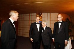 FIA President Max Mosley, His Serene Highness Prince Albert of Monaco, Bernie Ecclestone and Head of