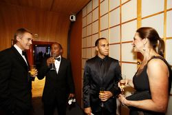 McLaren CEO Martin Whitmarsh, Anthony Hamilton and FIA Formula One World champion Lewis Hamilton
