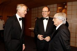 FIA President Max Mosley, His Serene Highness Prince Albert of Monaco and Formula One Management CEO