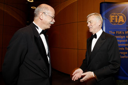 Head of Mercedes Dr. Dieter Zetsche and FIA President Max Mosley