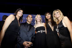 FIA Formula 1 World champion Lewis Hamilton in charming company
