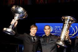 FIA World Rally champion Sébastien Loeb and FIA Formula 1 World champion Lewis Hamilton