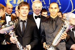 FIA World Rally champion Sébastien Loeb, FIA President Max Mosley and FIA Formula 1 World champion L