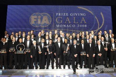 Cérémonie de gala des remises de prix de la FIA 2008, à Monaco
