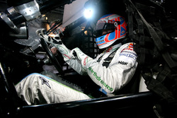 Jenson Button in the cockpit of an RX150 Buggy