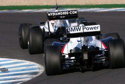 Christian Klien, pilote d'essai BMW Sauber F1 Team, Nico Hulkenberg, pilote d'essai WilliamsF1 Team