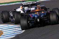 Nico Hulkenberg, Test Driver, WilliamsF1 Team, Sebastien Buemi, Test Driver, Red Bull Racing