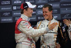 Podium: Michael Schumacher et Mattias Ekström