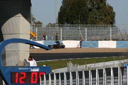 Sebastian Vettel, Red Bull Racing sort de la piste en tête-à-queue