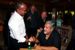 Dr Vijay Mallya Force India F1 Team Owner and Anthony Hamilton on the Fly Kingfisher boat party on t