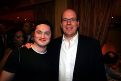 HSH Prince Albert of Monaco on the Fly Kingfisher boat party on the Indian Empress
