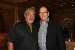 Dr Vijay Mallya et Le Prince Albert de Monaco