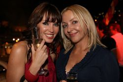 Dannii Minogue avec Jules Kulpinski à l'Indian Empress Fly Kingfisher Closing Party