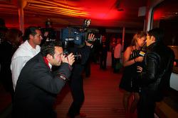 Vitantonio Liuzzi Force India F1 Üçüncü Pilotu ve Tamara Ecclestone Sky TV Sunucusu, Fly Kingfisher