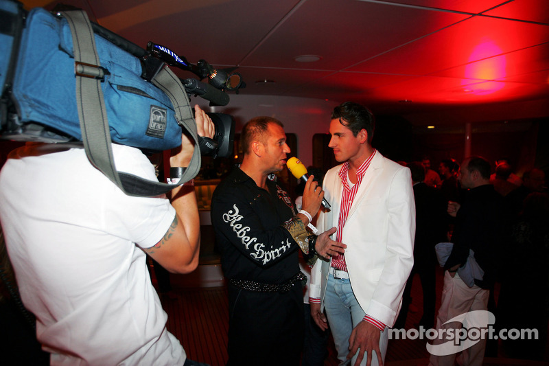 Kai Ebel RTL TV Presenter and Adrian Sutil Force India F1 at