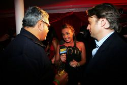 Dr Vijay Mallya Force India F1 Team Owner, Adam Parr Williams CEO and Tamara Ecclestone Sky TV Prese