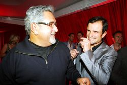 Dr Vijay Mallya Force India F1 Team Owner with Vitantonio Liuzzi Force India F1 Third Driver at the