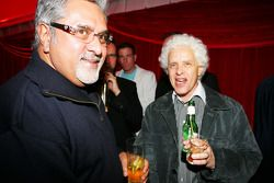 Dr Vijay Mallya Force India F1 Team Owner with Jorge Sutil The father of Adrian Sutil at the Fly Kin