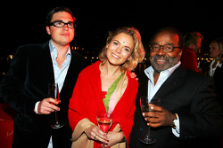 Adam Hay-Nicholls Red Bulletin Journalist and Everett Surratt Sony at the Fly Kingfisher Boat Party