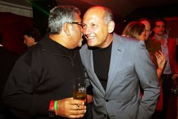 Dr Vijay Mallya Force India F1 Team Owner with Ron Dennis McLaren Team Principal at the Fly Kingfish