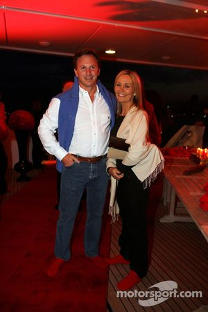 Christian Horner Red Bull Racing Sporting Director at the Fly Kingfisher Boat Party