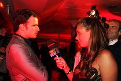 Vitantonio Liuzzi Force India F1 Third Driver and Tamara Ecclestone Sky Sport Television Presenter at the Fly Kingfisher Boat Party