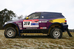 X-raid team: the #318 BMW X3 CC of Peter van Merksteijn and Eddy Chevaillier