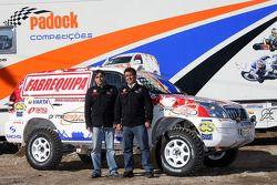 Equipa Padock: le pilote Francisco Pita et Humberto Goncalves