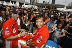 Luc Alphand et Hiroshi Masuoka
