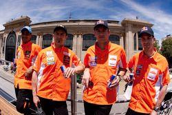 Cyril Despres, Alain Duclos, Jordi Viladoms y Marc Coma