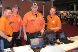Team de Rooy at administrative check