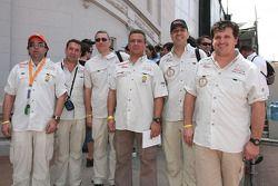 Les pilotes de Padock Competition: Francisco Pita, Humberto Goncalves, Martine Campos Pereira, Jose Manuel Teixeira Marques, Adelio Machado et Laurent Flament