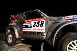 La #358 Mitsubishi Pajero V60 de Tino Schmidt et Philipp Tiefenbach