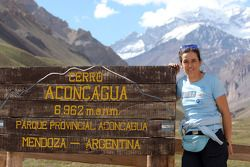 Elisabete Jacinto visite l'Aconcagua Provincial Park