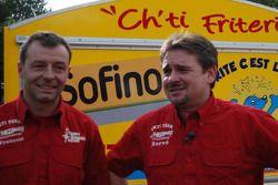 Equipe Chti Friterie: Hervé Diers et François Béguin avec le #400 Toyota Land Cruiser french fries mobile