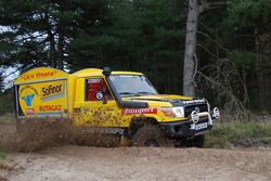 Equipe Chti Friterie: #400 Toyota Land Cruiser: Hervé Diers, François Béguin