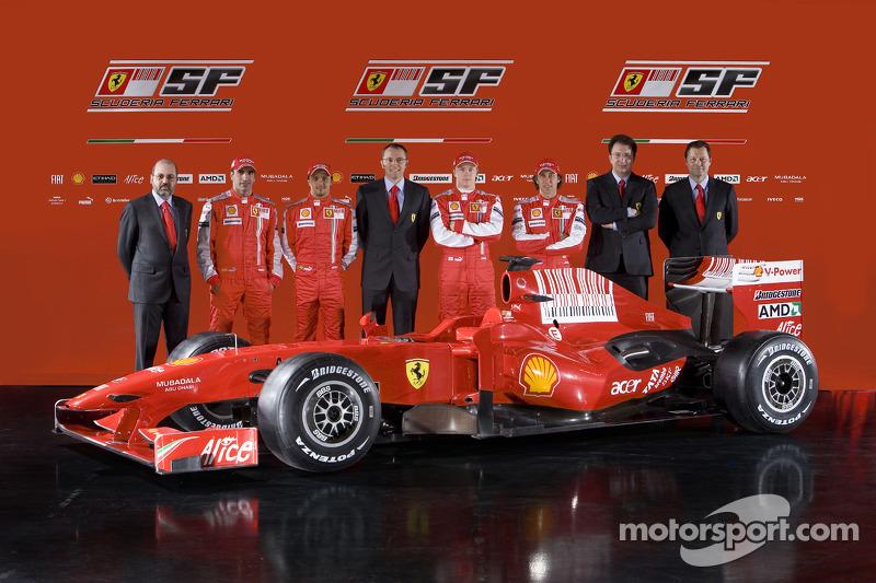 Presentación de la Ferrari F60 de 2009