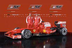 Марк Жене и Лука Бадоер с новой Ferrari F60