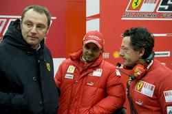 Stefano Domenicali, Felipe Massa und Luca Baldisserri, Ferrari