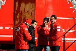 Luca Badoer, Test Pilotu, Scuderia Ferrari ve Nicolas Todt, Manager, Felipe Massa, Marc Gene, Test P