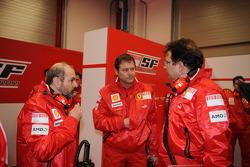 Gilles Simon, Aldo Costa und Nikolas Tombazis, Ferrari